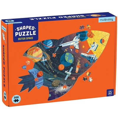 MUDPUPPY OUTER SPACE SHAPED PUZZLE 300 PC