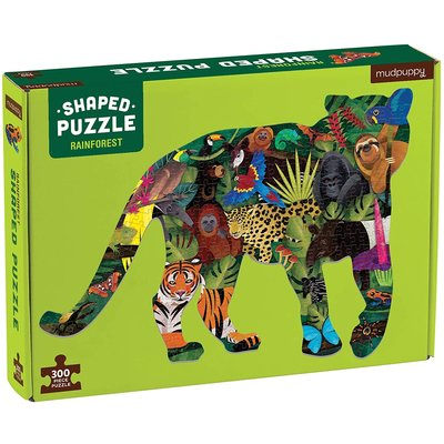 MUDPUPPY RAINFOREST SHAPED PUZZLE 300 PC