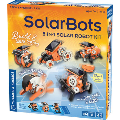 THAMES & KOSMOS SOLARBOTS: 8 IN 1 SOLAR ROBOT KIT