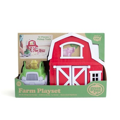 GREEN TOYS RECYCLED FARM PLAYSET