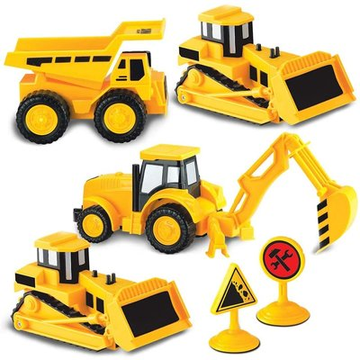 KID GALAXY MINI CONSTRUCTION TRUCK SET