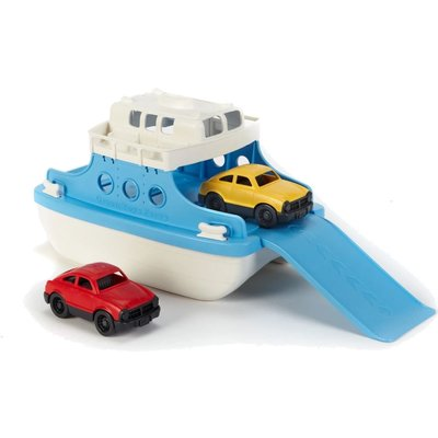 GREEN TOYS RECYCLED FERRY BOAT WITH MINI CARS
