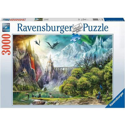 RAVENSBURGER USA REIGN OF DRAGONS 3000 PC PUZZLE