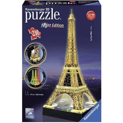RAVENSBURGER USA EIFFEL TOWER NIGHT EDITION 3D PUZZLE