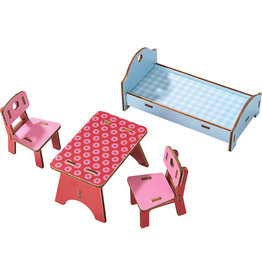 HABA LITTLE FRIENDS DOLL HOUSE FURNITURE