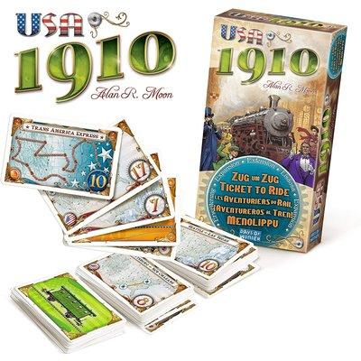 ASMODEE TICKET TO RIDE USA 1910 EXPANSION GAME