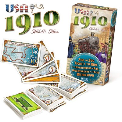 ASMODEE TICKET TO RIDE USA 1910 EXPANSION
