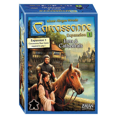 ASMODEE CARCASSONNE EXPANSION 1 INNS AND CATHEDRALS