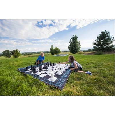 B4 ADVENTURE JUMBO GAME SET CHESS / CHECKERS