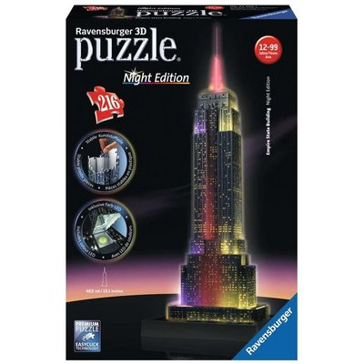 RAVENSBURGER USA EMPIRE STATE BUILDING NIGHT EDITION 3D PUZZZLE