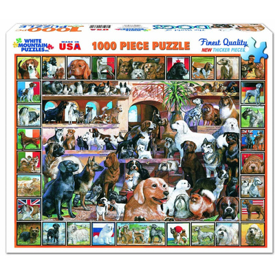 WHITE MOUNTAIN PUZZLE WORLD OF DOGS 1000 PC PUZZLE