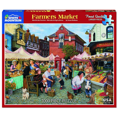 WHITE MOUNTAIN PUZZLE FARMERS MARKET 1000 PC PUZZLE