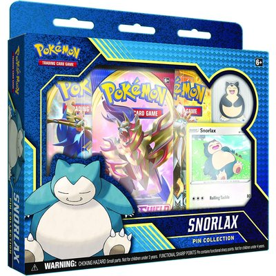 POKEMON INTERNATIONAL POKEMON SNORLAX / MORPEKO PIN COLLECTION
