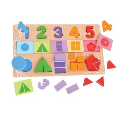 BIGJIGS TOYS MY FIRST FRACTIONS PUZZLE