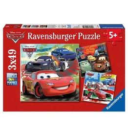 RAVENSBURGER USA CARS WORLDWIDE RACING RUN 3 X 49 PC PUZZLE