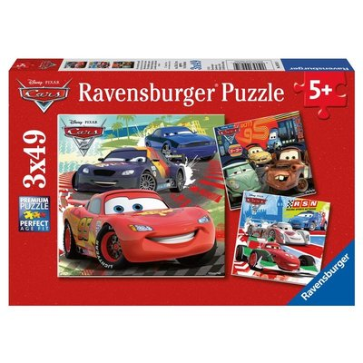 RAVENSBURGER USA CARS WORLDWIDE RACING RUN 3 X 49 PC PUZZLE