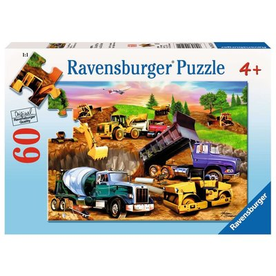RAVENSBURGER USA CONSTRUCTION CROWD 60 PC PUZZLE