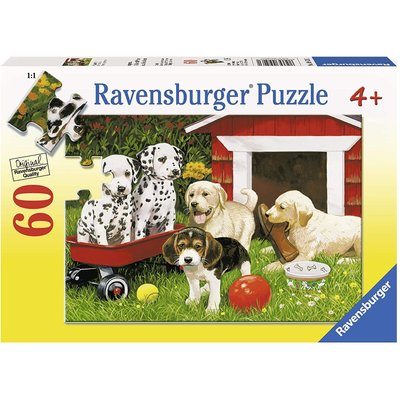 RAVENSBURGER USA PUPPY PARTY 60 PIECE PUZZLE