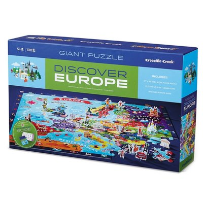 CROCODILE CREEK EUROPE DISCOVER & LEARN PLAY PUZZLE
