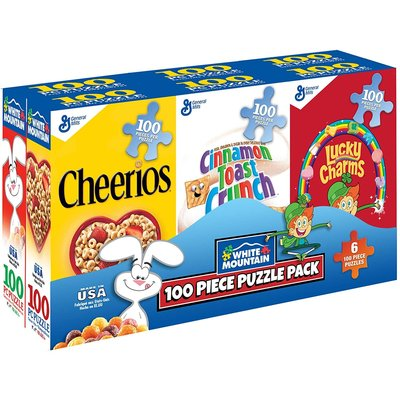 WHITE MOUNTAIN PUZZLE SIX-PACK CEREAL BOXES PUZZLE