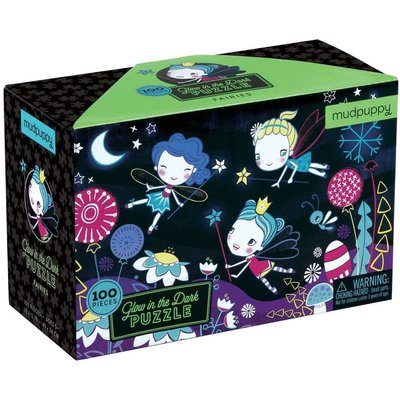 MUDPUPPY GLOW IN THE DARK FAIRIES PUZZLE 100 PC