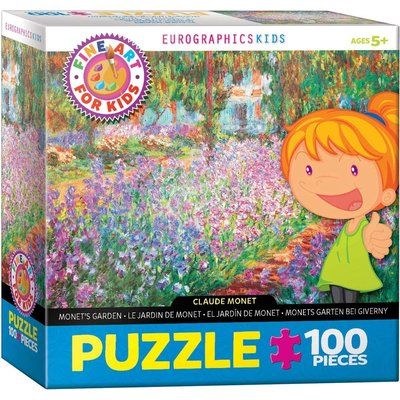 EUROGRAPHICS MONETS GARDEN 100 PC PUZZLE