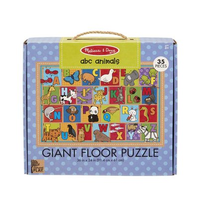 MELISSA AND DOUG ABC ANIMALS 35 PIECE FLOOR PUZZLE