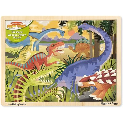 MELISSA AND DOUG DINOSAUR 24 PIECE PUZZLE
