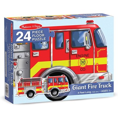 MELISSA AND DOUG FIRE TRUCK 24 PIECE FLOOR PUZZLE