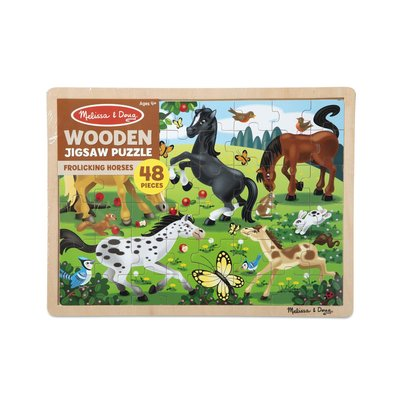 MELISSA AND DOUG FROLICKING HORSES 48 PIECE PUZZLE