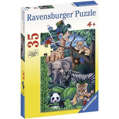 RAVENSBURGER USA ANIMAL KINGDOM 35 PC PUZZLE