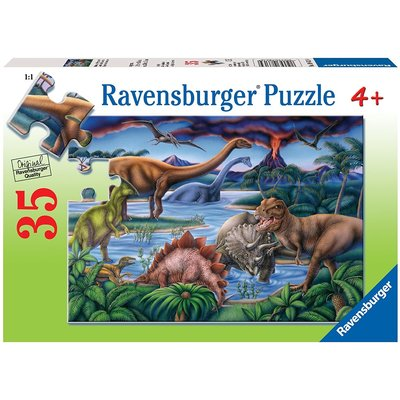 RAVENSBURGER USA DINOSAUR PLAYGROUND 35 PC PUZZLE