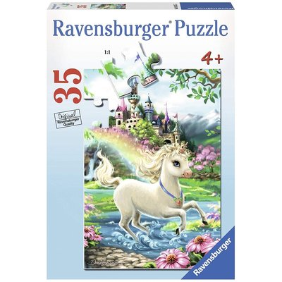 RAVENSBURGER USA UNICORN CASTLE 35 PIECE