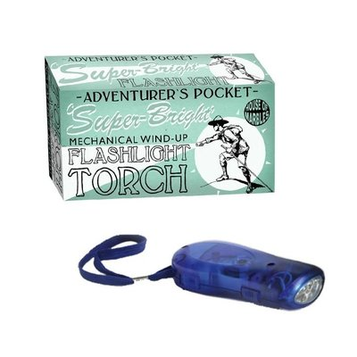 HOUSE OF MARBLES ADVENTURERS WIND UP TORCH FLASHLIGHT**