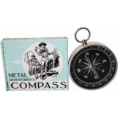 HOUSE OF MARBLES ADVENTURER'S METAL COMPASS