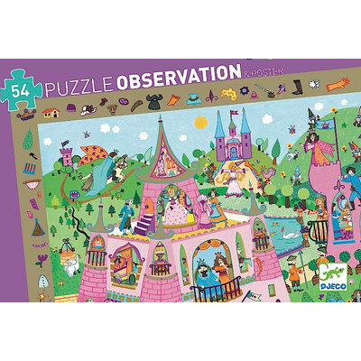 DJECO OBSERVATION PUZZLE PRINCESS