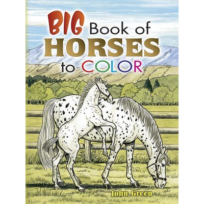 DOVER PUBLICATIONS BIG BOOK OF HORSES TO COLOR PB GREENE