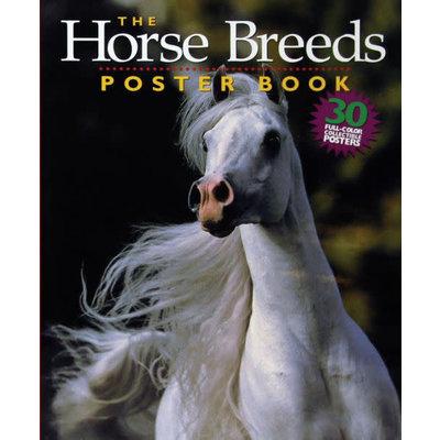 WORKMAN PUBLISHING HORSE BREEDS POSTER BOOK PB LANGRISH
