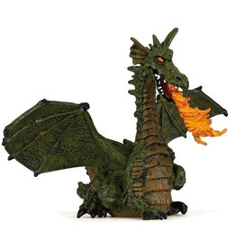 PAPO GREEN WINGED DRAGON WITH FLAME PAPO