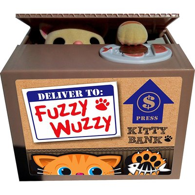 LEADING EDGE FUZZY WUZZY KITTY BANK