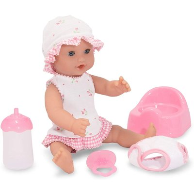 """MELISSA AND DOUG ANNIE DRINK AND WET 12"""" DOLL"""