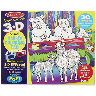 MELISSA AND DOUG ANIMALS 3-D COLORING PAD