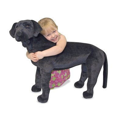 MELISSA AND DOUG BLACK LAB DOG LARGE
