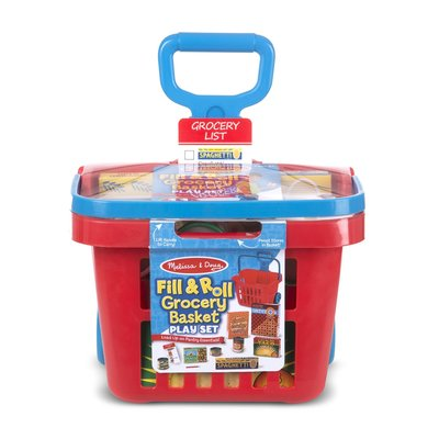 MELISSA AND DOUG FILL & ROLL GROCERY BASKET PLAY SET