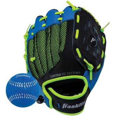 FRANKLIN BASEBALL BALL & GLOVE LEFT HANDED