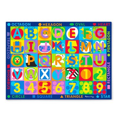 MELISSA AND DOUG JUMBO ABC-123 RUG