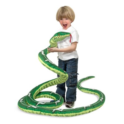 MELISSA AND DOUG LARGE GREEN STUFFED SNAKE