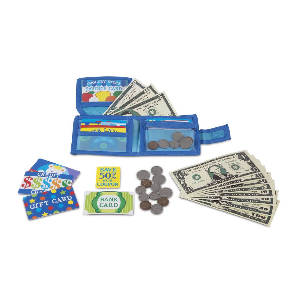 MELISSA AND DOUG PRETEND TO SPEND WALLET*