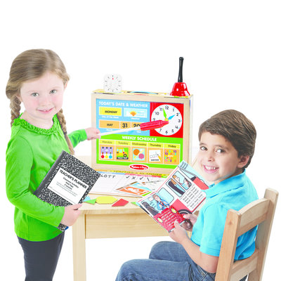 MELISSA AND DOUG SCHOOL TIME CLASSROOM PLAY SET