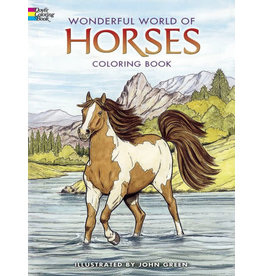 DOVER PUBLICATIONS ANIMAL COLORING BOOKS WONDERFUL WORLD OF HORSES